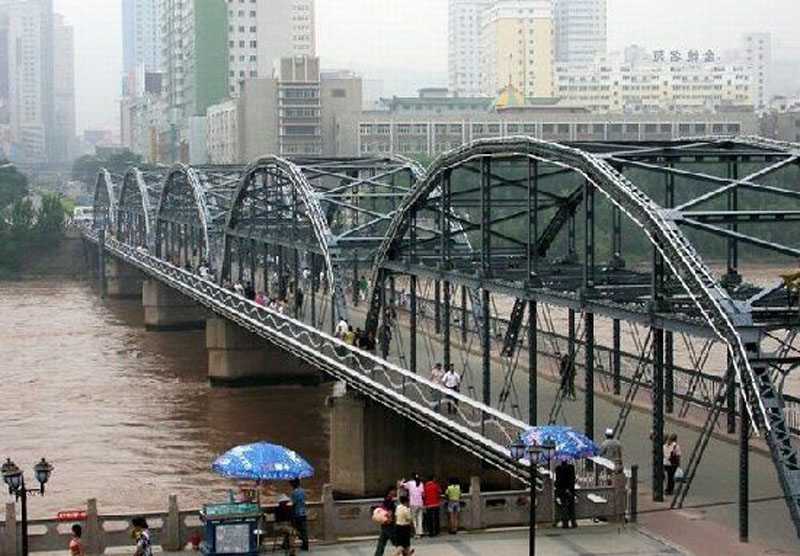 兰州黄河第一桥中山桥;