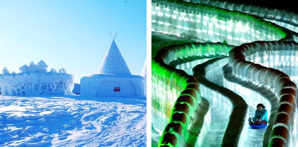 哈尔滨冰雪大世界园区内将设置滑雪,溜冰,雪地摩托,滑梯,冰尜,雪地
