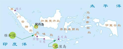 巴厘岛旅游地图-位置介绍