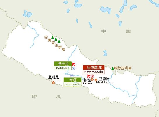 尼泊尔旅游地图-景点介绍