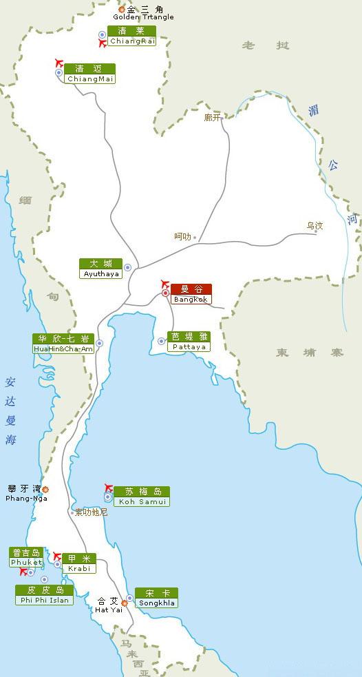 芭提雅景点地图中文版